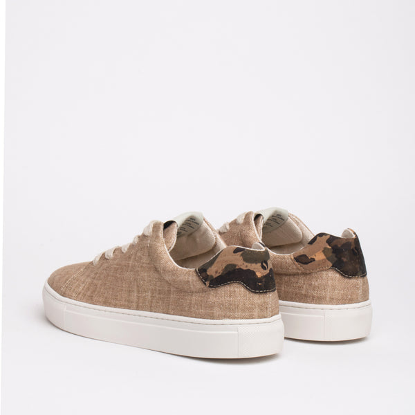 Stillwell Sustainable Lace Sneaker - Oat - DNAFOOTWEAR