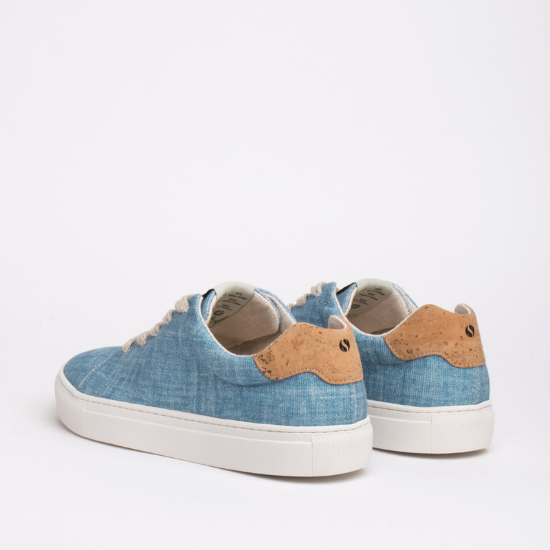 Stillwell Sustainable Lace Sneaker - Sky - DNAFOOTWEAR