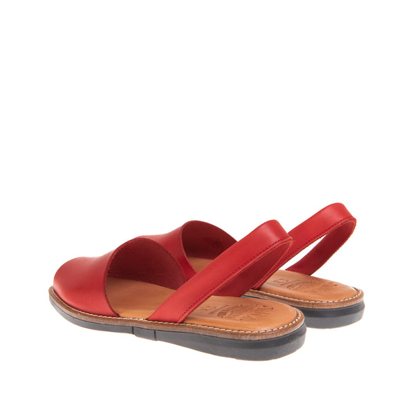 Taylor Casual Flat Sandal - Red