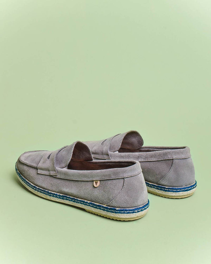 Tirson Suede Penny Loafers - Grey