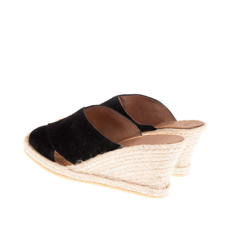 Townsend High Wedge Slide - Black