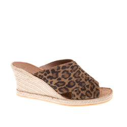Townsend High Wedge Slide - Leopard