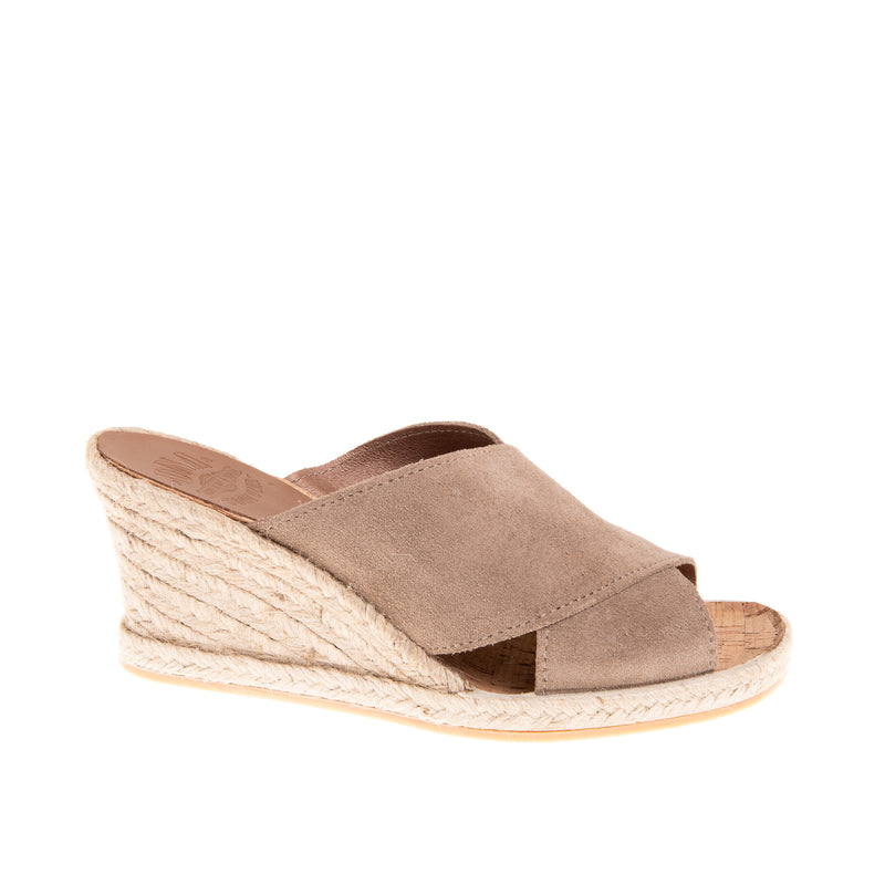 Townsend High Wedge Slide - Taupe