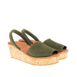 Westshore Cork Platform Wedge - Green