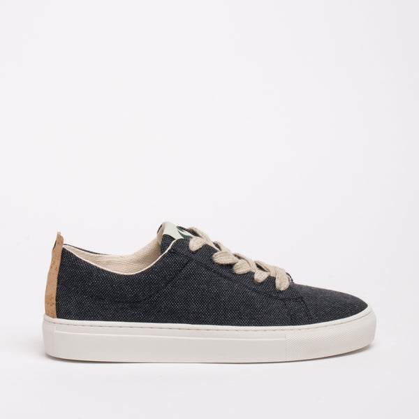 Willow Sustainable Lace Sneaker - Coal - DNAFOOTWEAR