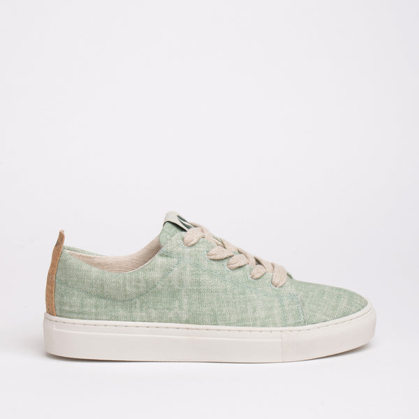 Willow Sustainable Lace Sneaker - Mint - DNAFOOTWEAR