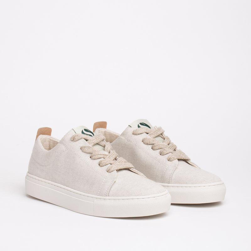 Willow Sustainable Lace Sneaker - Natural - DNAFOOTWEAR