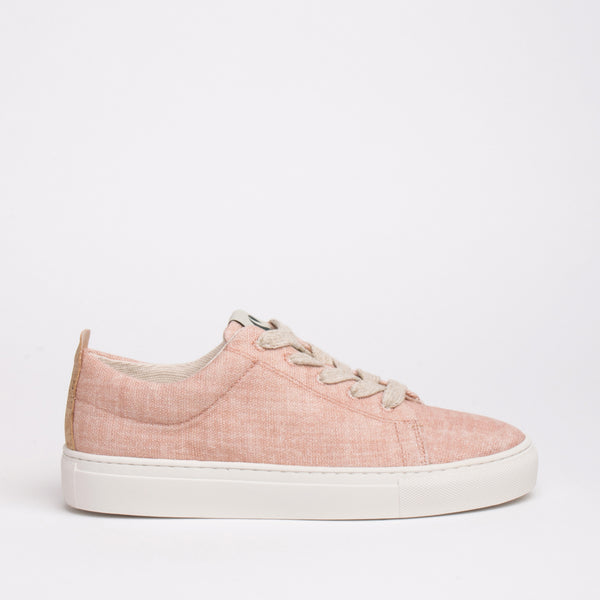Willow Sustainable Lace Sneaker - Peach - DNAFOOTWEAR