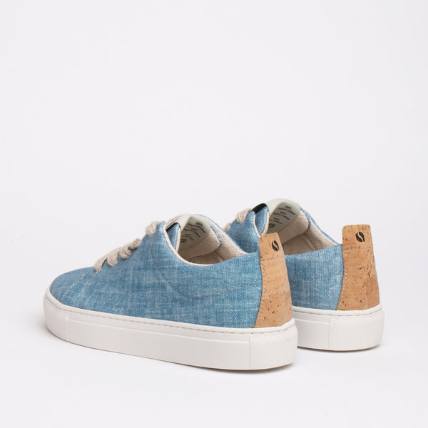 Willow Sustainable Lace Sneaker - Sky - DNAFOOTWEAR