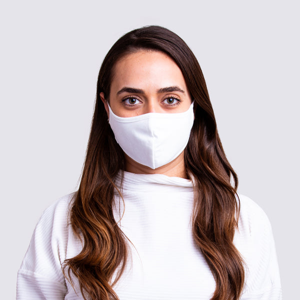 Cotton Facemask - White