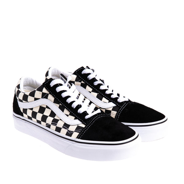 Unisex Old Skool Primary Check - Black/White