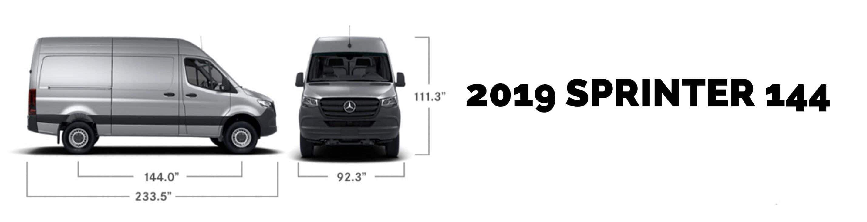 2019 Mercedes Benz Sprinter 144 Specs