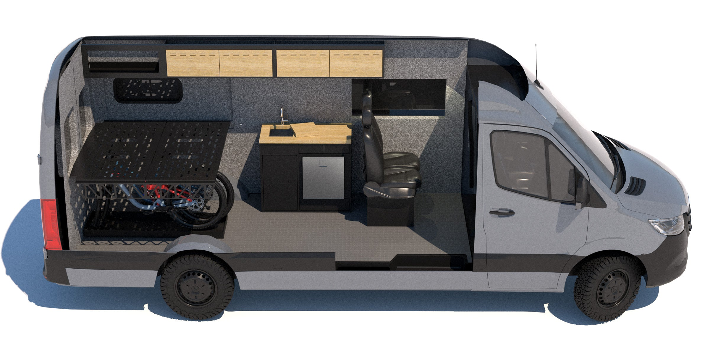 """Sprinter 170 with Flarespace and 41"""" Galley"""