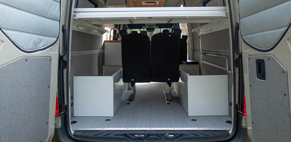 Sprinter Van Wheel Well Cubby