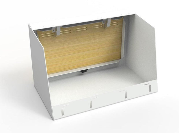 "24"" Upper Cabinet in White - Back View"