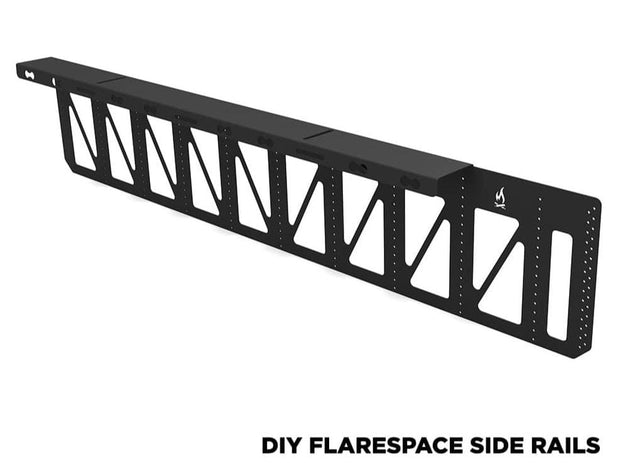 DIY Sprinter Flarespace side rails