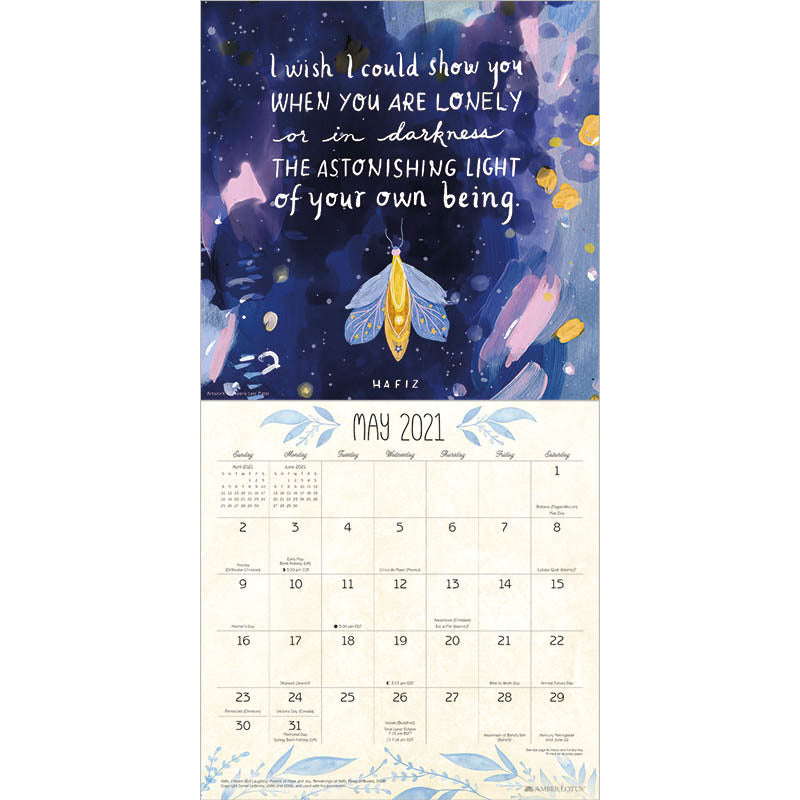 The Universe is Stitched Together With Fragments of You | 2021 Calendar