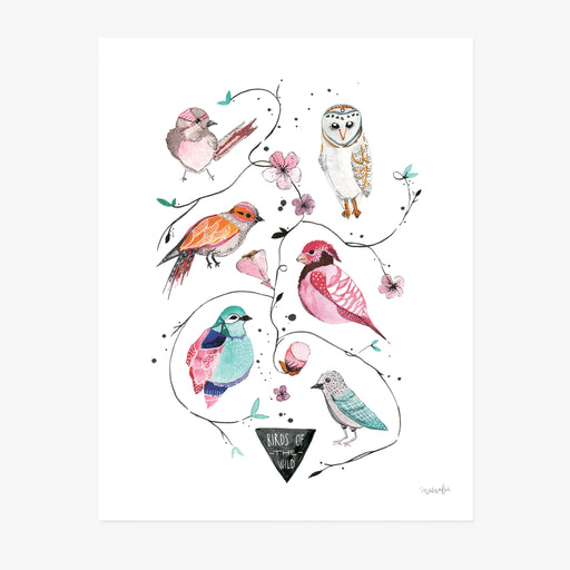 Birds Watercolor Art Print