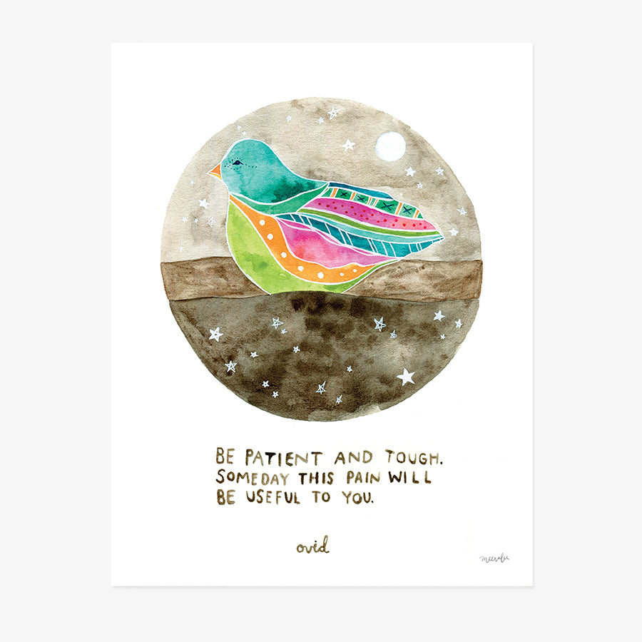 Watercolor Bird art print for sale