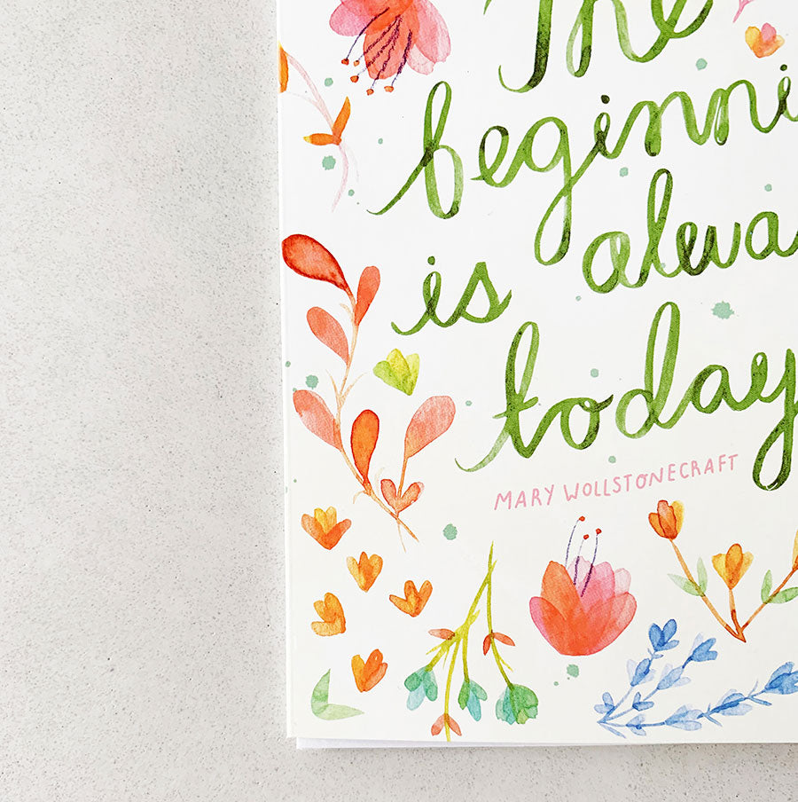 The Beginning is Always Today | Greeting Card (Set of 6)