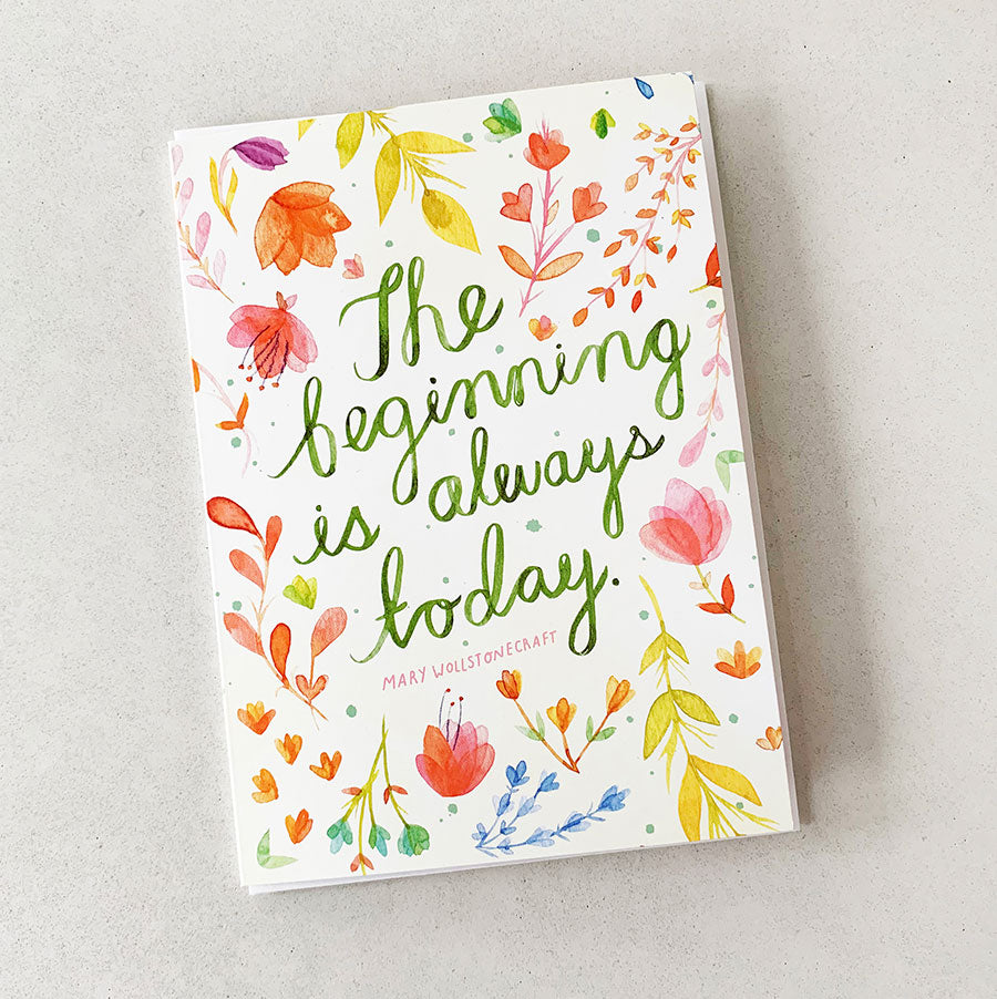 Superb The Beginning Is Always Today Greeting Card Set Of 6 Meera Funny Birthday Cards Online Fluifree Goldxyz