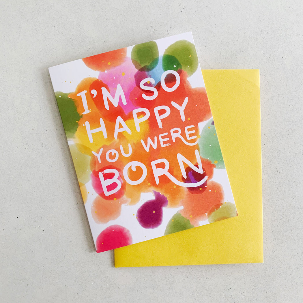 I'm So Happy You Were Born Confetti | GREETING CARD (Boxed Set)