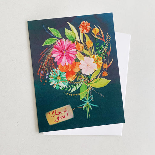 Thank You Floral Bouquet | GREETING CARD (Boxed Set)