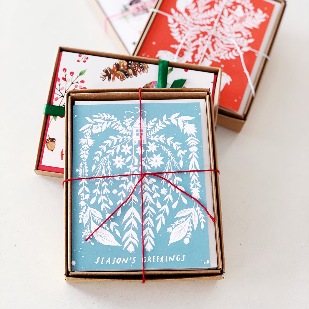 Season's Greetings (Winter Home) | GREETING CARD (Boxed Set)