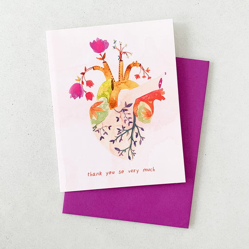 Thank You So Very Much Flourishing Heart | GREETING CARD