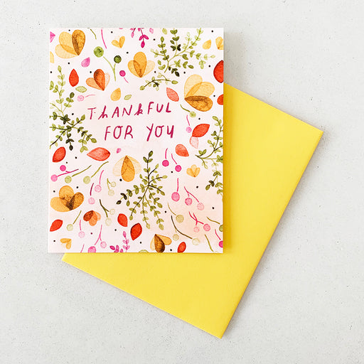 Thankful for You (Florals) | GREETING CARD