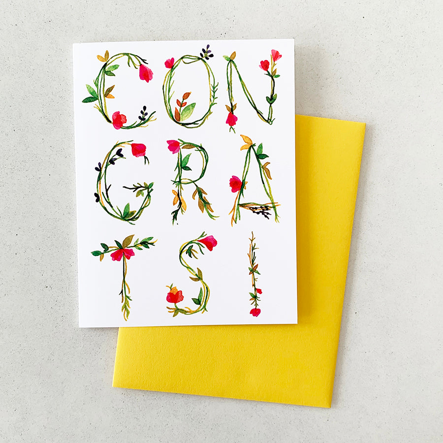 Congratulations! (Floral) | GREETING CARD (Boxed Set)