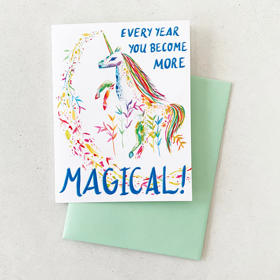 Every Year You Become More Magical Unicorn | GREETING CARD (Boxed Set)