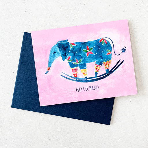 Hello Baby Watercolor card