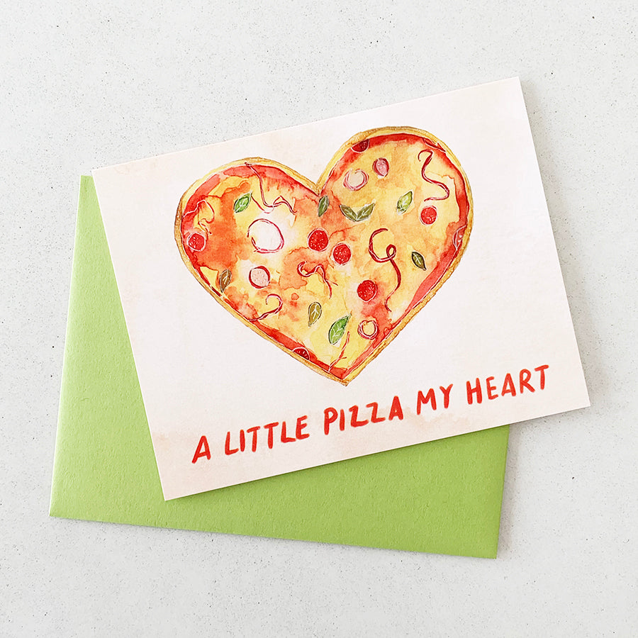 Pizza Greeting Card
