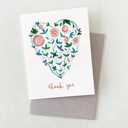 Thank You Garden Heart | GREETING CARD (Boxed Set)