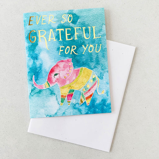Ever So Grateful For You Elephant | GREETING CARD