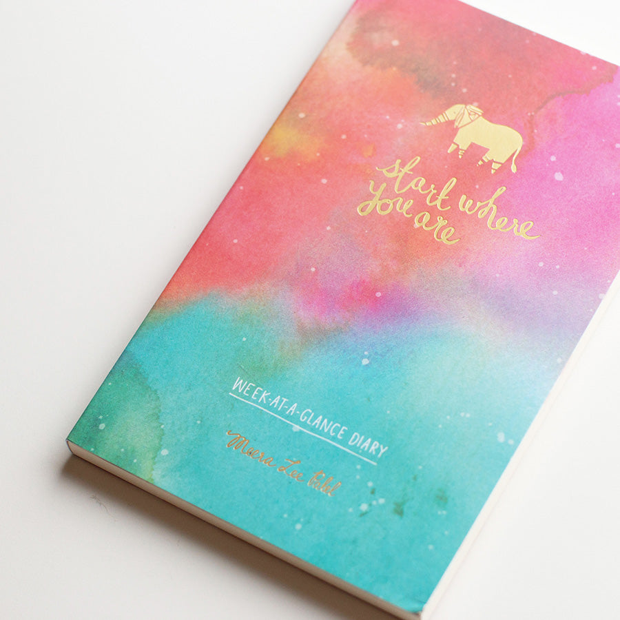 Start Where You Are Week-at-a-Glance Diary | Weekly Planner