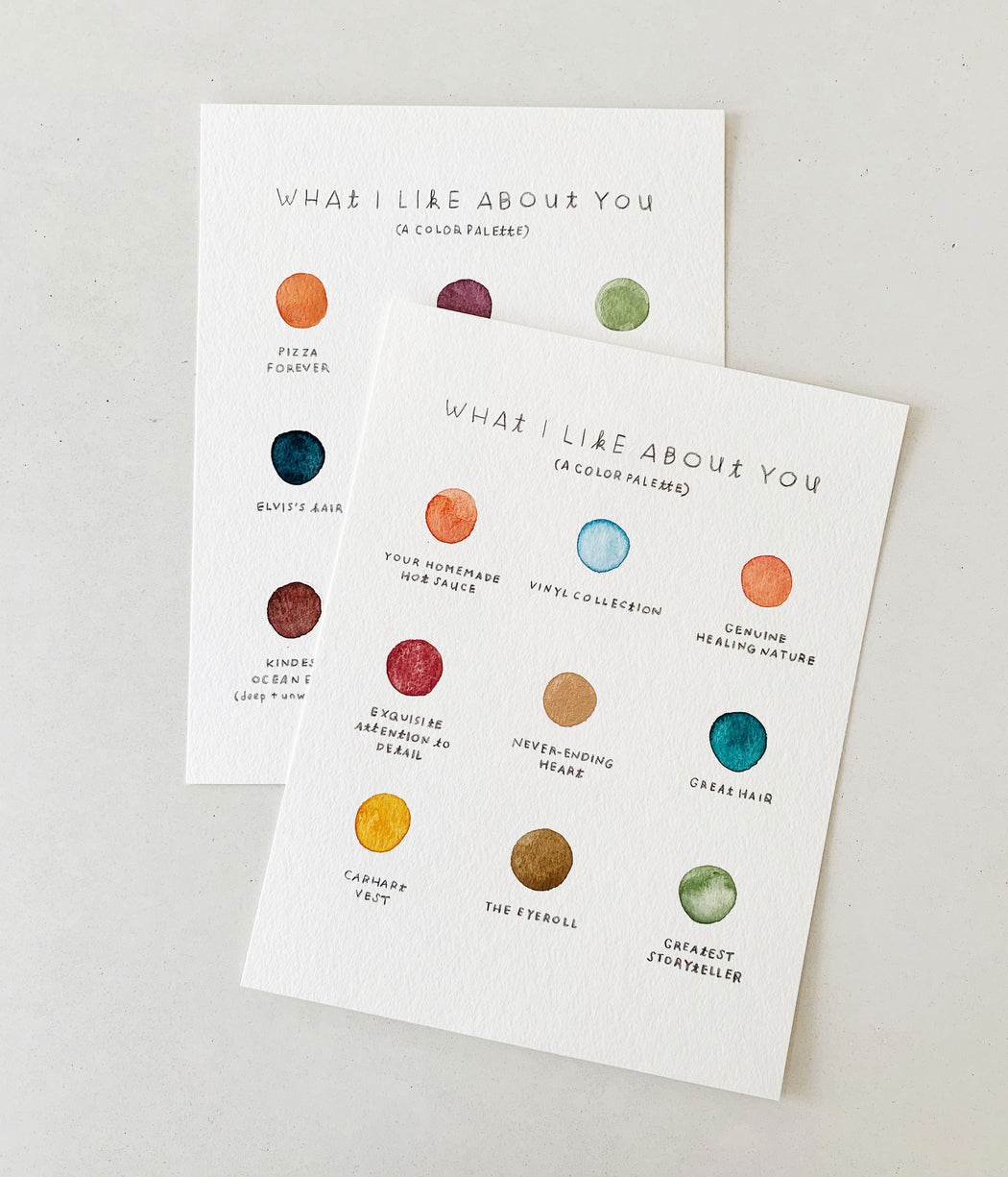 What I Like About You Color Palette | ORIGINAL ART
