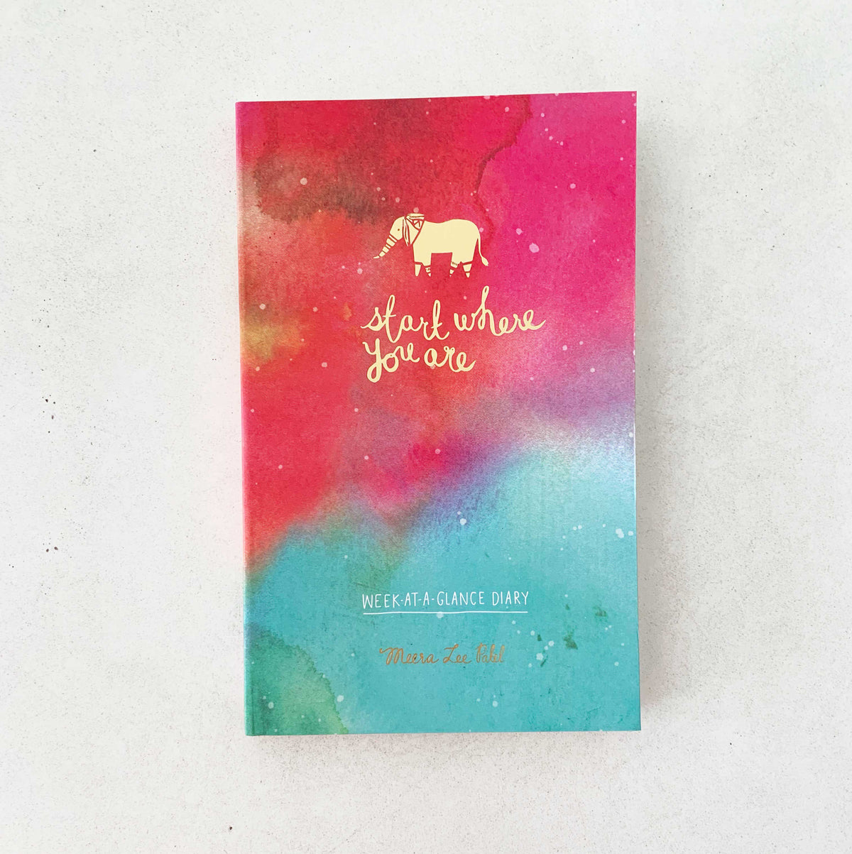 photograph about Week at a Glance Planner titled Start off The place Yourself Are 7 days-at-a-Search Diary Weekly Planner