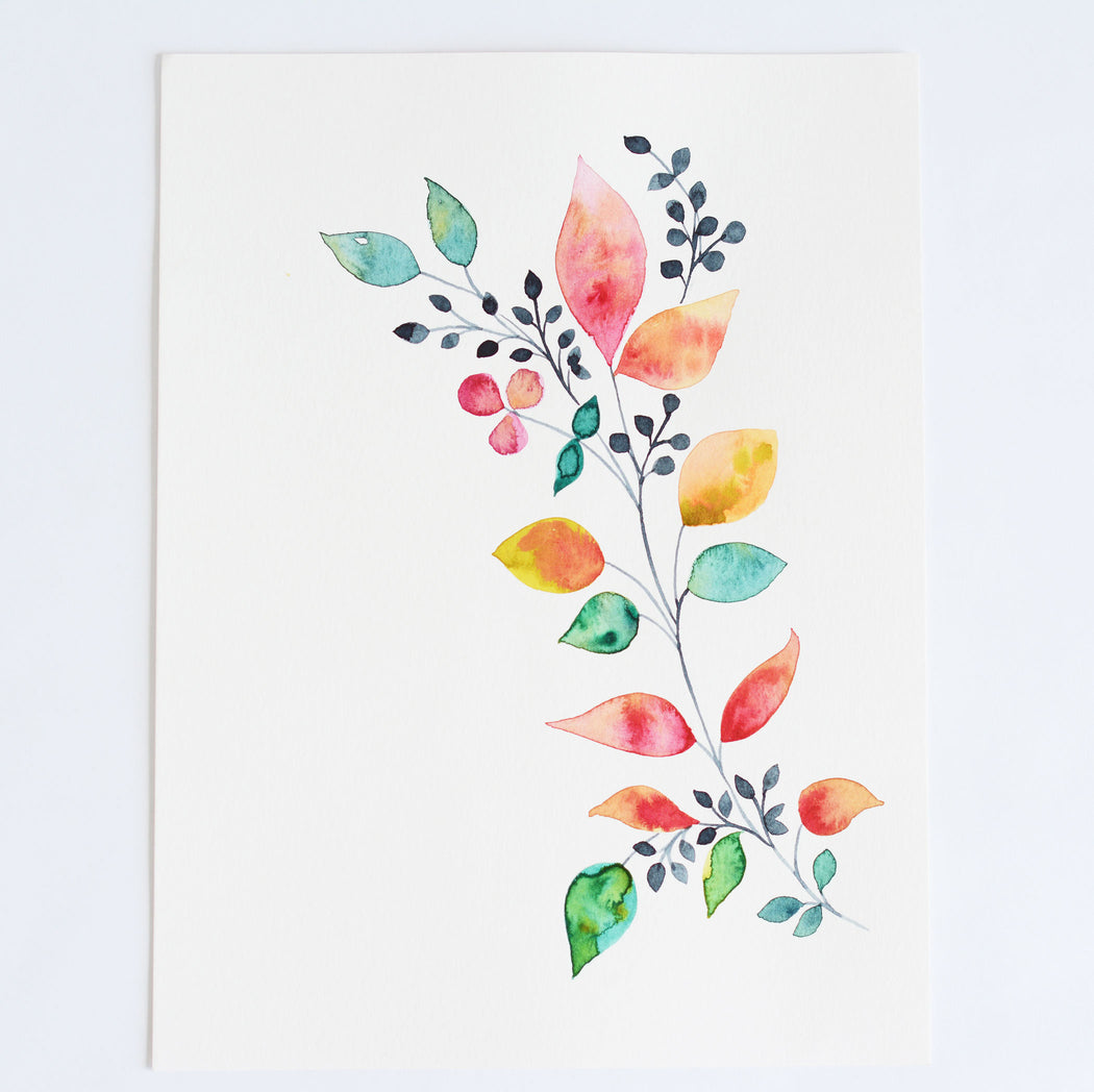 Watercolor Print for Sale Flowers