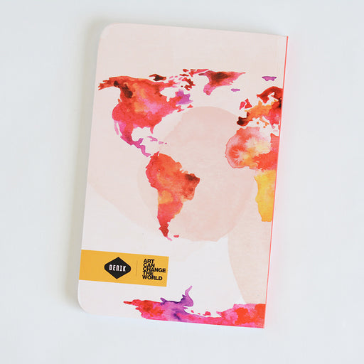 World Map (Pink) | Notebook