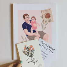Load image into Gallery viewer, Family Portrait Illustration