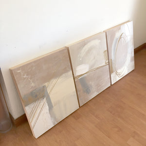 [Custom art] A mystery set of 3 abstract paintings