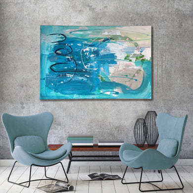 [New] Ocean - Oversize Original Painting On Canvas | Limited Edition | Only One Available