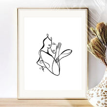 Load image into Gallery viewer, Custom Black and White Portrait | One Line Minimal | Drawing from photo || Commission