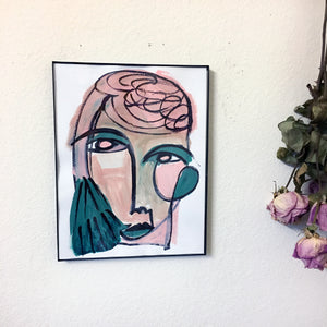 [NEW] Green-Rose - ORIGINAL PAINTING / ONLY ONE AVAILABLE