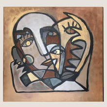"Load image into Gallery viewer, [Popular] ""Heart"" - GOLD, LARGE PAINTING ON CANVAS / ONLY ONE AVAILABLE"