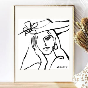 Custom Black and White Portrait | One Line Minimal | Drawing from photo || Commission