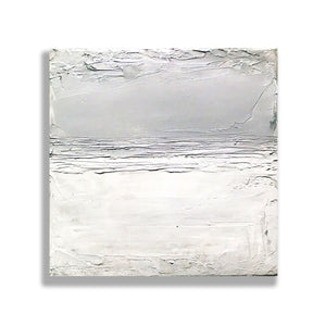 """Silver & white"" - Original Painting on Canvas, 8x8"", One available"