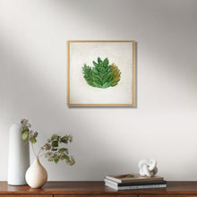 "Load image into Gallery viewer, ""Succulent"" - Original Painting on Canvas, 8x8"", One available"